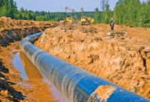 Photo of Ecuadorian pipeline system receives US help